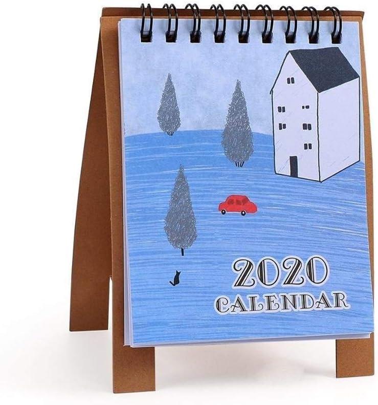 Calendario Familiar 2020 Mini Calendario de Escritorio Escuela de Escritorio Calendario de Escritorio Planificador Calendario de la Familia Bloc de Notas Calendario perpetuo Calendario de sobremesa
