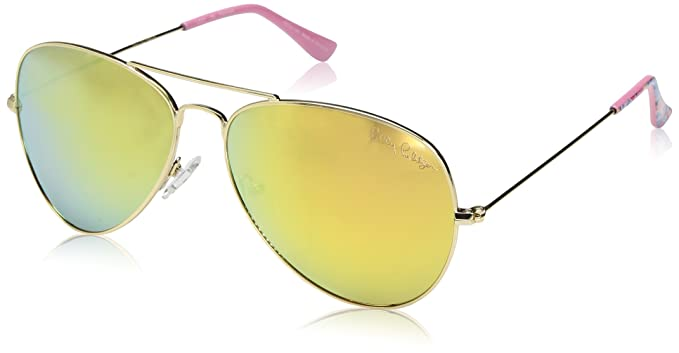 3e23578eb12 Image Unavailable. Image not available for. Color  Lilly Pulitzer Women s  Lexy Polarized Aviator Sunglasses ...