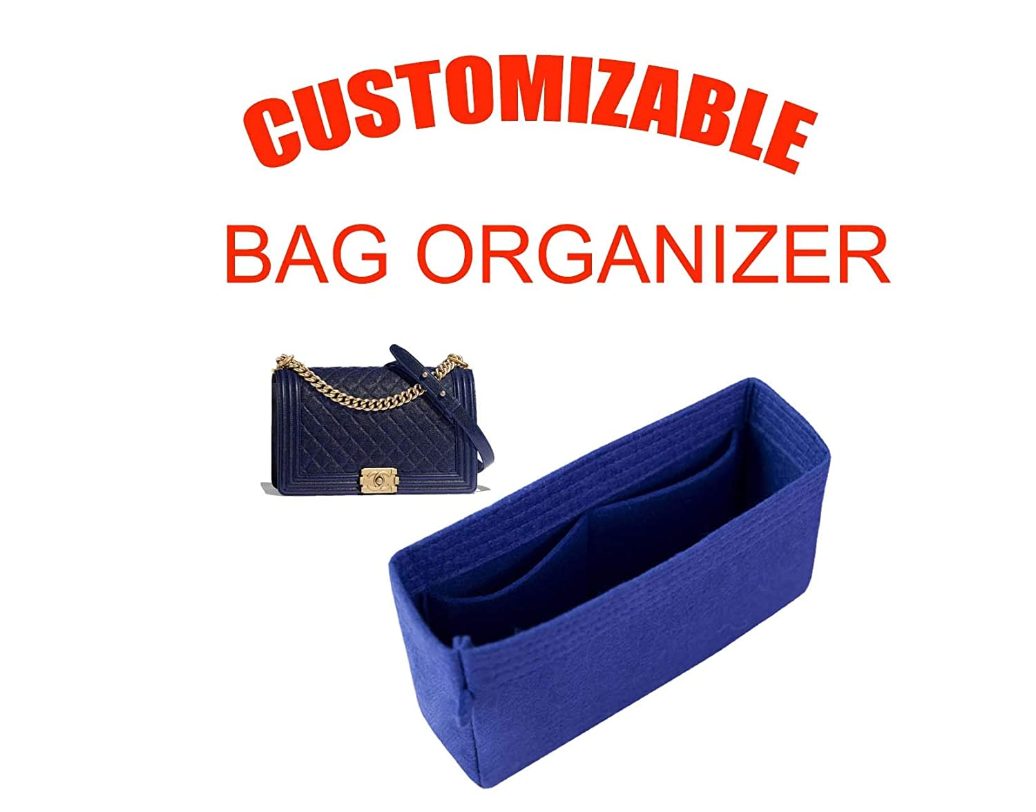 b90825629bb1 Amazon.com: For Chanel M/L medium bag insert organizer purse insert ...