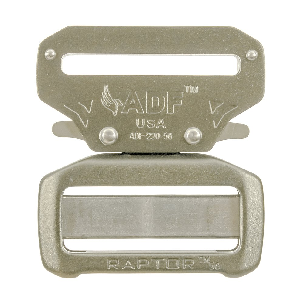 Raptor II 2'' Tactical Military Police Aluminum Quick Release Trouser Shooter Rigger Hunting Sports Belt Buckle Coyote Brown