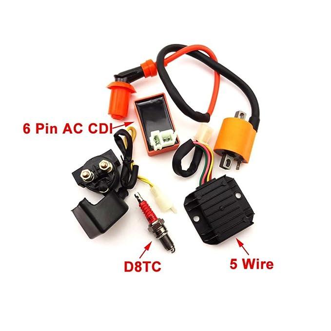 TC-Motor Racing Ignition Coil CDI Box D8TC Spark Plug Regulator Rectifier Relay Kit For 150cc 200cc 250cc Engine ATV Quad 4 Wheeler