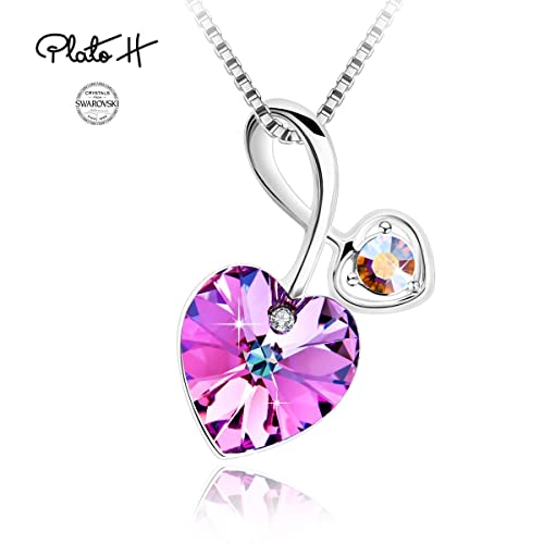 7eb9afb3d504a0 Swarovski Element Necklace Cupid s Arrow Love Heart Pendant Necklace for  Women