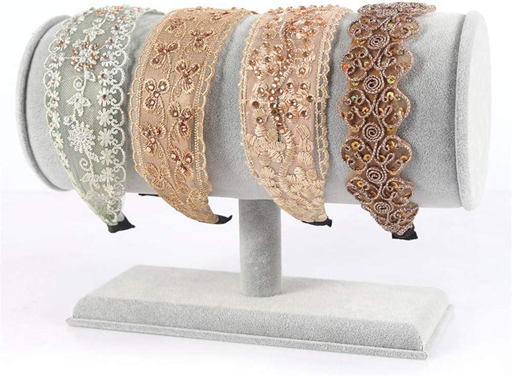 Regalos de cumpleaños Mujeres Niñas Diadema Creativa Soporte de exhibición Soporte para Diadema Accesorios para el Cabello de Gamuza (Color: Gris, tamaño: 28.5x12cm) Almacenamiento