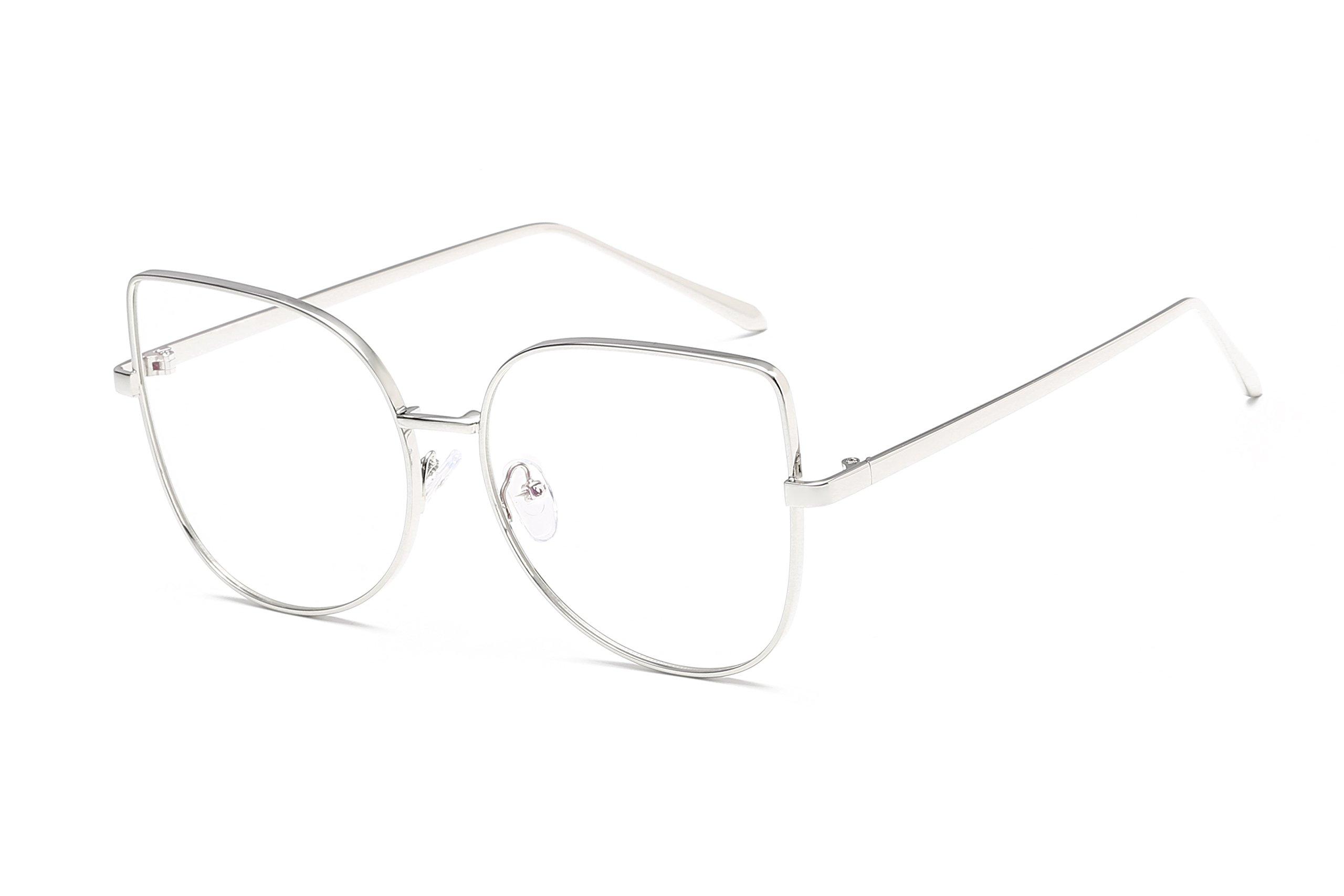 Embryform Metal Vintage Retro Clear Lens Unisex Glasses