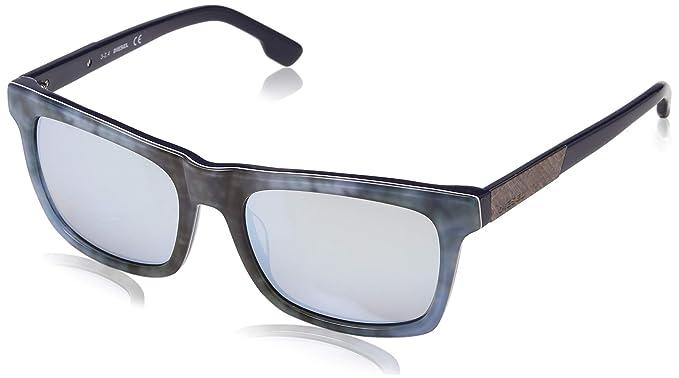 Diesel Wayfarer Eye, Gafas de Sol Unisex Adulto, Azul (BLU), 54