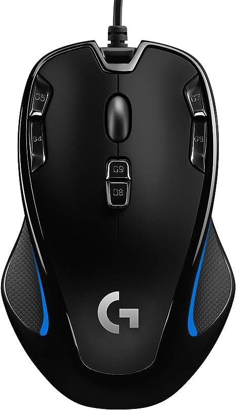 Logitech G300s Ratón Gaming con Cable, Ambidiestro, RGB, Peso Reducido, 9 Botones Programables, Memoria Integrada, PC/Mac - Negro