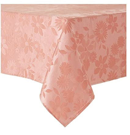 Beau Celebrate Easter Together Spring Easter Floral Light Peach Fabric Tablecloth  60 X 144 Rectangle