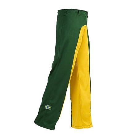 Unisex Verde amarillo Brasil Capoeira Artes Marciales Abada Elástico  Pantalones 5 Tallas  Amazon.es  Deportes y aire libre 3d58652aee4f