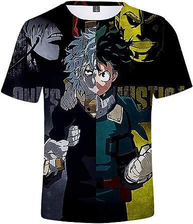 Camiseta My Hero Academia Boku No Hero Academia Izuku Midoriya Deku 3D Print Cosplay Disfraz Manga Corta Traje de Entrenamiento Camisa Uniforme: Amazon.es: Ropa y accesorios