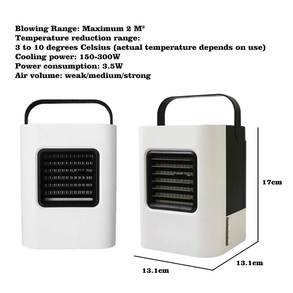 Mini Ventilador USB Silencioso, JiaMeng Enfriamiento Fresco del Aire Acondicionado portátil del USB Mini para el refrigerador del Dormitorio para Mesa, ...