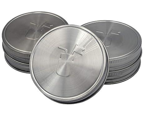 Amazon.com: Tapas de almacenamiento de acero inoxidable con ...