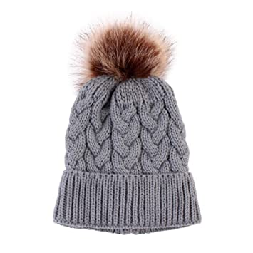 12147e71365 Amazon.com  AFfeco Baby Adult Winter Warm Family Matching Knit Hat ...