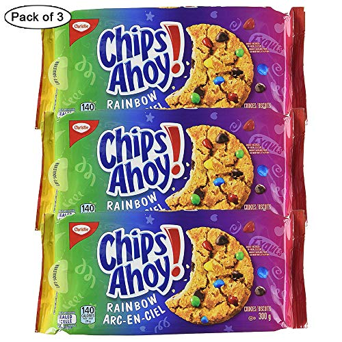 Christie Chips Ahoy Rainbow Chocolate-Chip – Cookies, 300g/10.6oz (3pk){Imported from Canada}