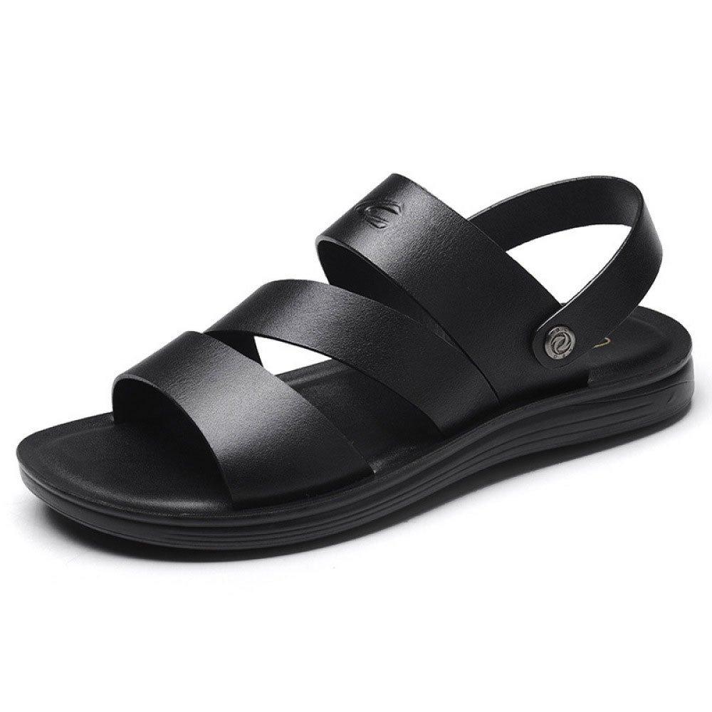 Sandalias De Los Hombres Zapatillas De Verano Plataforma Playa Zapatos 38 EU|Black
