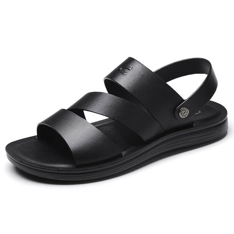 Sandalias De Los Hombres Zapatillas De Verano Plataforma Playa Zapatos Black
