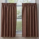 Town and Country Wine 36 Inch Curtain Tiers