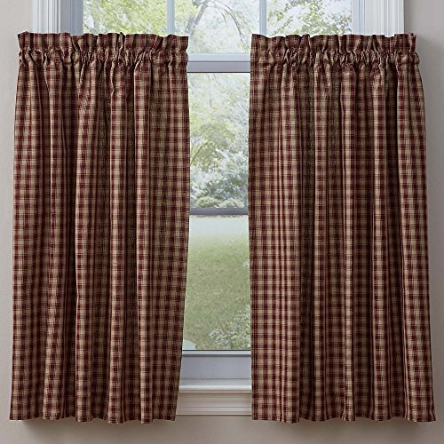 Town and Country Wine 36 Inch Curtain Tiers For Sale