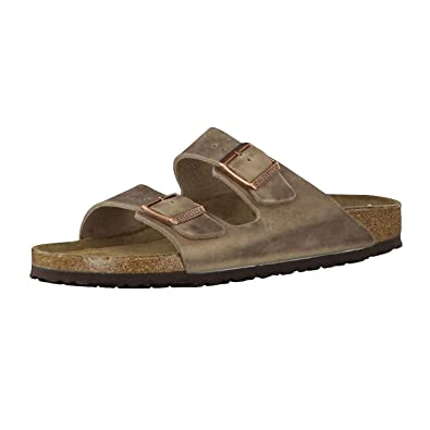 ec93c5ab2b Birkenstock 552813  Narrow Arizona Soft Footbed Leather Tobacco Brown  Sandals (38 N EU)