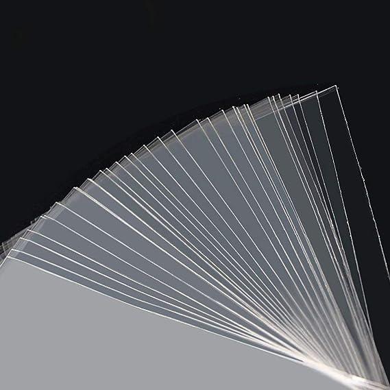Borse In Cellophane Trasparente Sacchetto di Plastica Autoadesiva OPP Durevole Buste Autoadesive Sigillanti 35 x 35 cm MGE 100 Pezzi