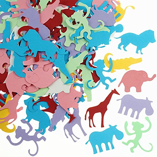 Shxstore Jungle Animal Shaped Paper Confetti Wedding Baby Shower Birthday Table Confetti Party Supplies