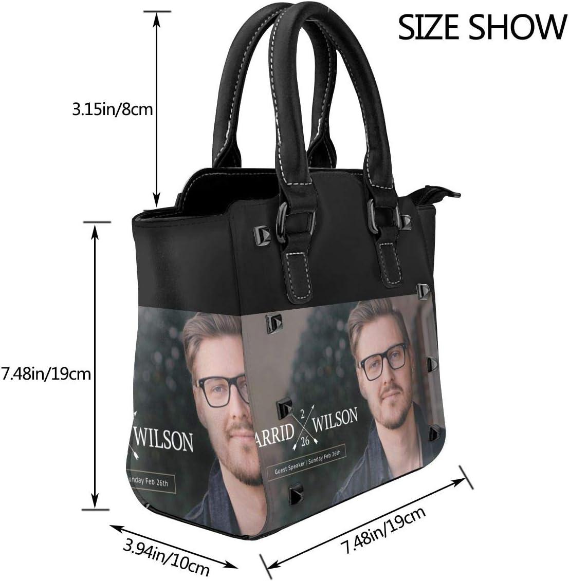 Lsbury Jarrid Wilson Rivet PU Leather Tote Bag Shoulder Bag