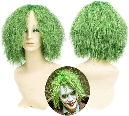 Halloween Joker Green Clown Wig Cosplay Accesorio de Disfraz Long ...
