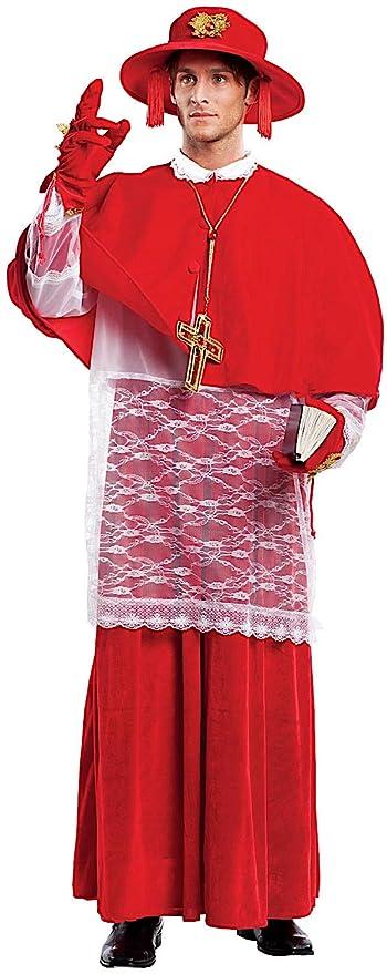 Costume di Carnevale da Cardinale Vestito per Uomo Adulti Travestimento  Veneziano Halloween Cosplay Festa Party 4477 ae3ffeca73a
