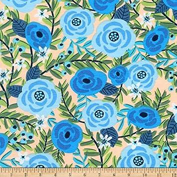 fc12753b09d Amazon.com: Robert Kaufman Kaufman Laguna Jersey Knit Prints Blue ...
