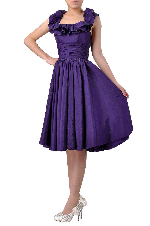 Adorona Taffeta Natrual Halter Bateau Sleeveless Knee Length Homecoming Dresses