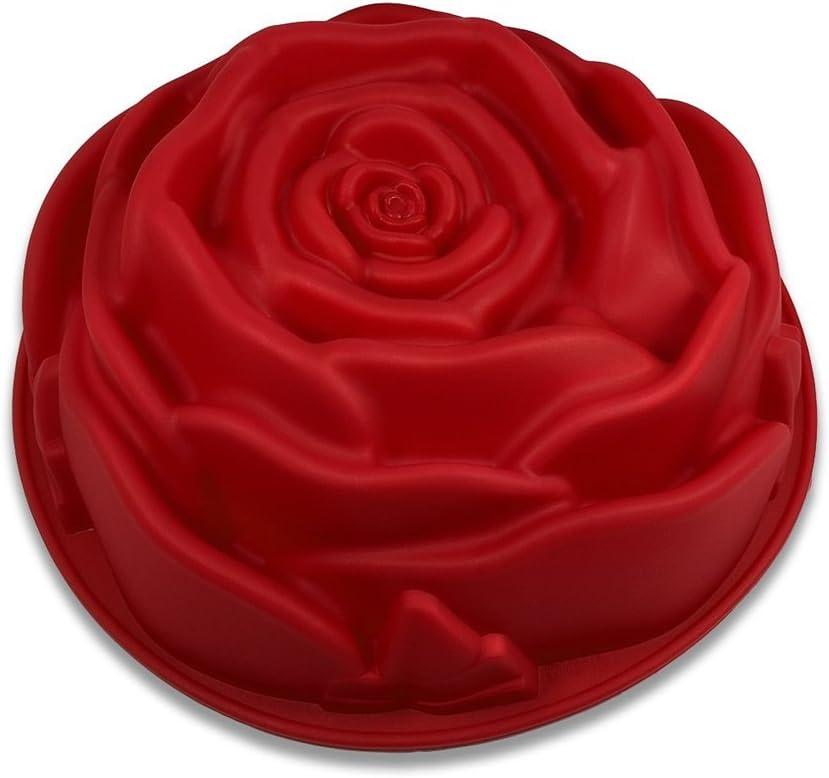 FantasyDay Premium Antiadherente Moldes para Tartas, Moldes de Silicona para Caramelos, Chocolate, Hornear, Tarta, Galletas, Jabón, Hielo - Antiadherente Apto para Lavavajillas Y Microondas - Rosa
