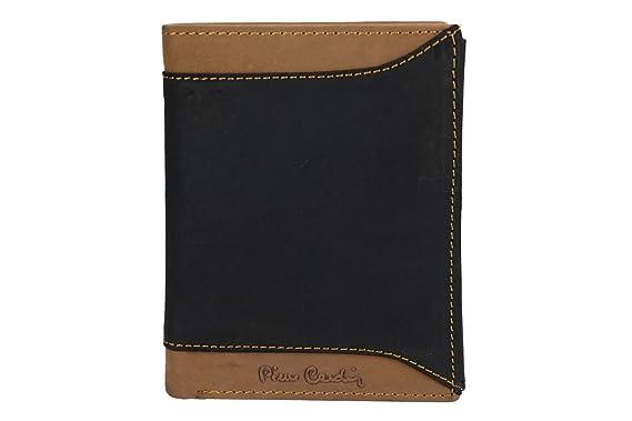 ee3f7535f799f Portemonnaie herren vertikal PIERRE CARDIN schwarz leder mit geldborsen  VA2164