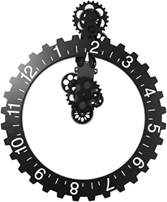 Amazon Com Modern Contemporary Mechanical Gear Wall Clock