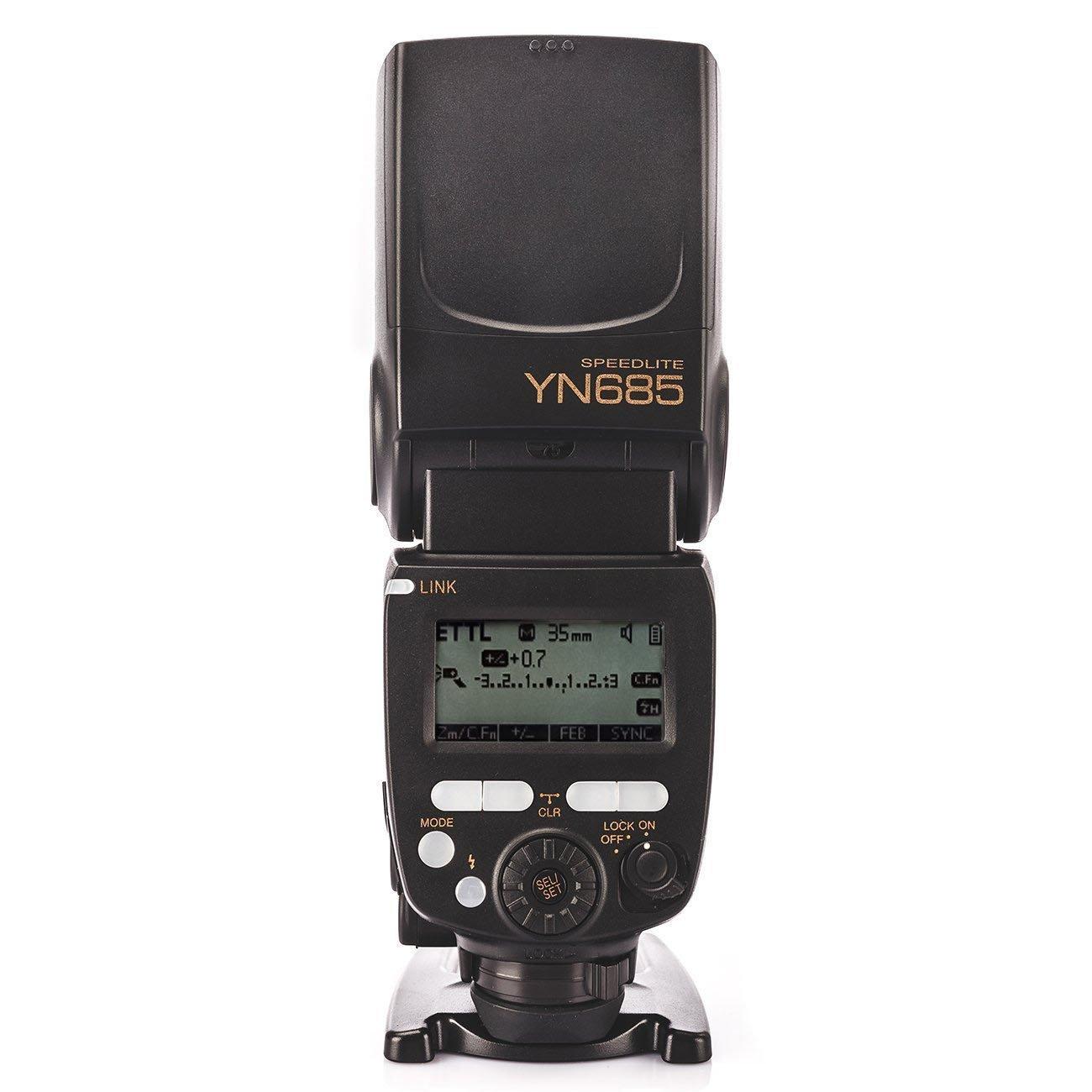 Yongnuo YN685 Camera Speedlight Flash for Nikon DSLR Cameras with WINGONEER Flash Diffuser