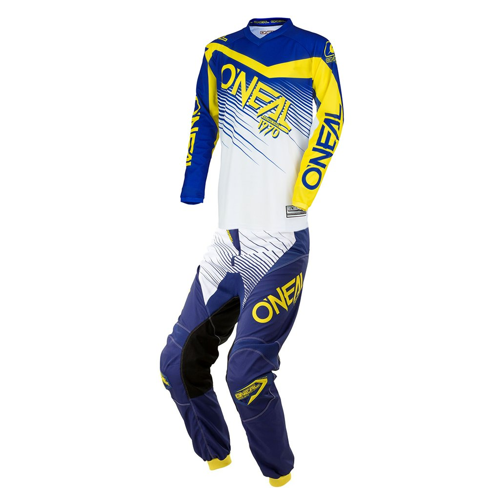 O'Neal - (Youth) Element Racewear Blue & Yellow Jersey/Pant Combo - Size Y-LARGE/26W