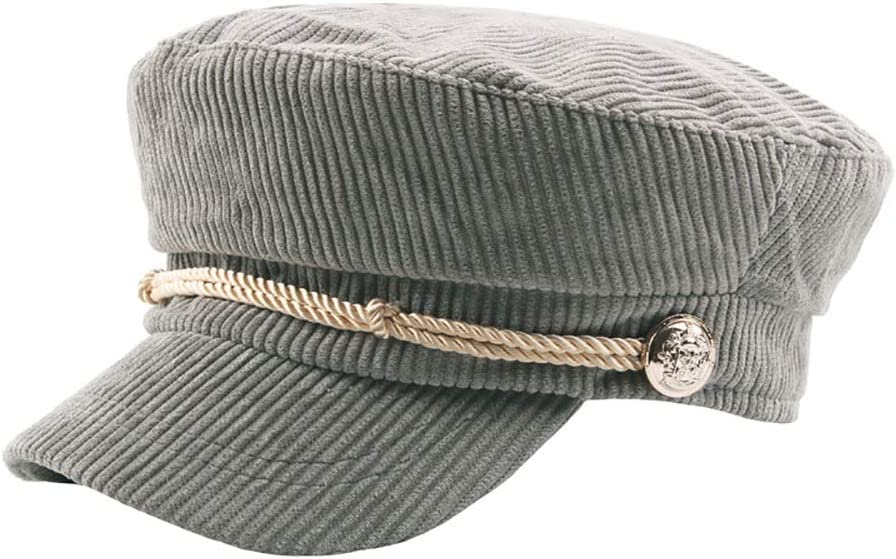 Comfortable Men Cotton Adjustable Flat Hat Quilted Embroidery Duckbill Newsboy Gatsby Irish Hat Fashion Color : 1, Size : Free Size