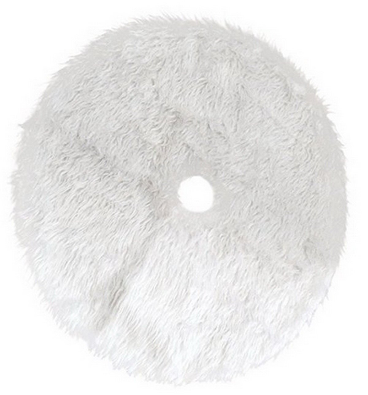 Christmas Tree Skirt Off White Plush Xmas Tree Ornaments Holiday Party Decorations (122cm(48inch))