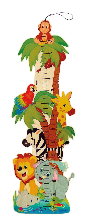 Hess juego de madera 14626 - Cinta métrica con diseño de animales de la selva, hecha de madera Hess Holzspielzeug 14626.0