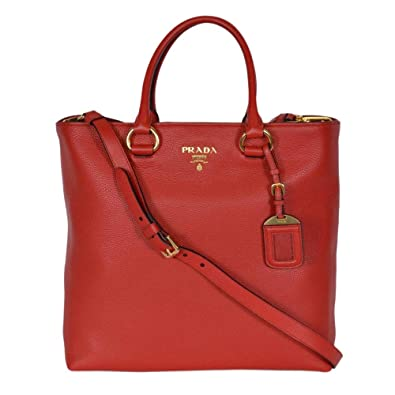 0ec8c8431743 ... wholesale prada womens red vitello phenix leather shopping tote 1bg865  9d7c7 d70bd