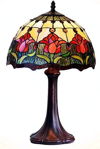 Lámparas de mesa estilo Tiffany, 12 pulgadas Lámparas de mesa de ...