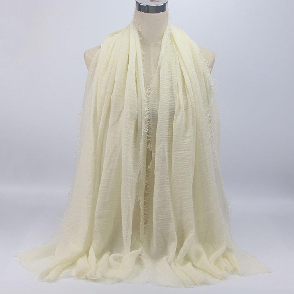 Malloom® Hijab pour l islam Musulman, Islam Muslim Viscose Premium Maxi  Crinkle Nuage Châle Echarpe Doux (180   90CM, Beige)  Amazon.fr  Vêtements  et ... 5c5111ffa0c