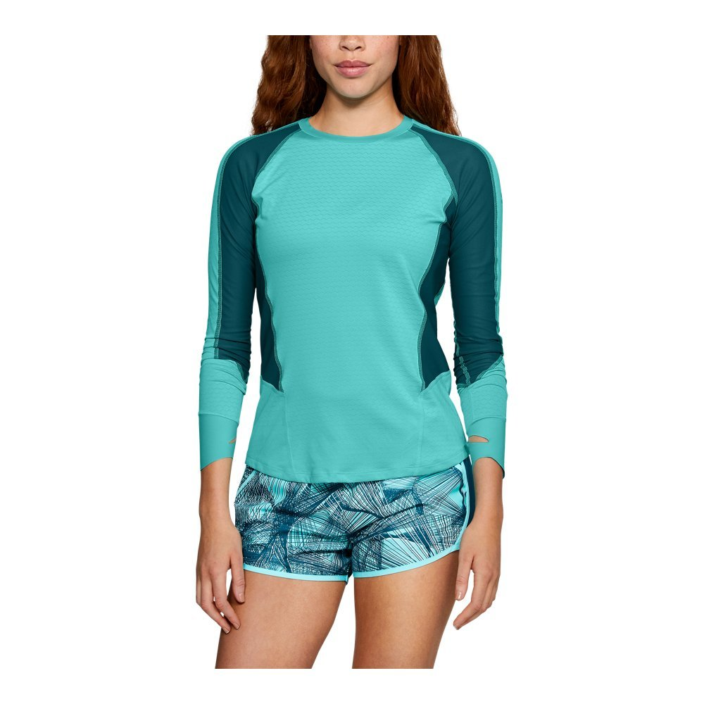 Under Armour Women's Cold Gear Reactor Long Sleeve Jacket, Tropical Tide /Reflective, Small by Under Armour (Image #1)