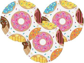 Backset Fur Kinder Donut Geburtstag Party Abendessen 22 9 Cm Teller