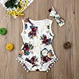 Newborn Kids Baby Girls Clothes Floral Jumpsuit