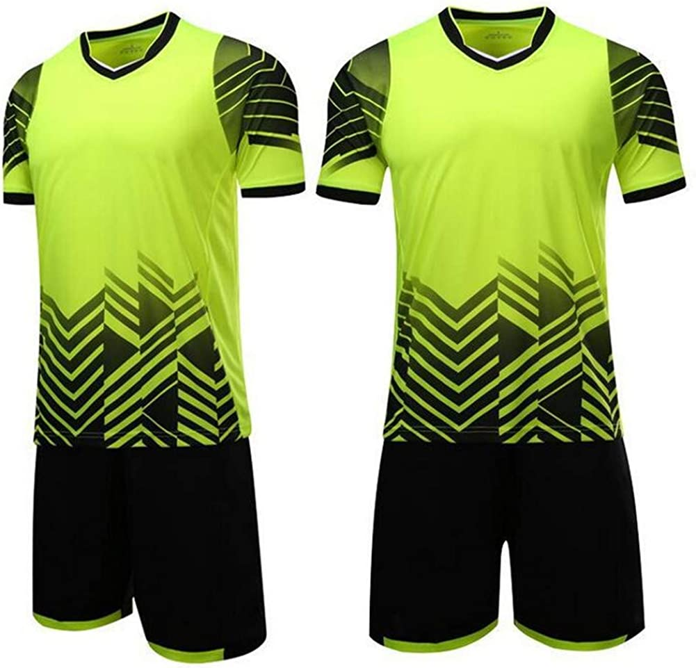 MaxxCloud Soccer Goalkeeper Football Short Sleeves Jersey /& Shorts for Mens Kids