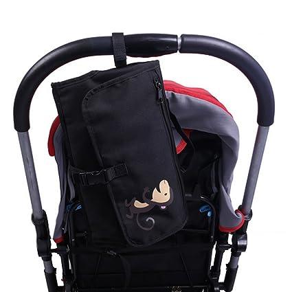 Portátil cambiador mats-welkey Baby Travel para cambio de pañales Pad con almacenamiento impermeable cambiar