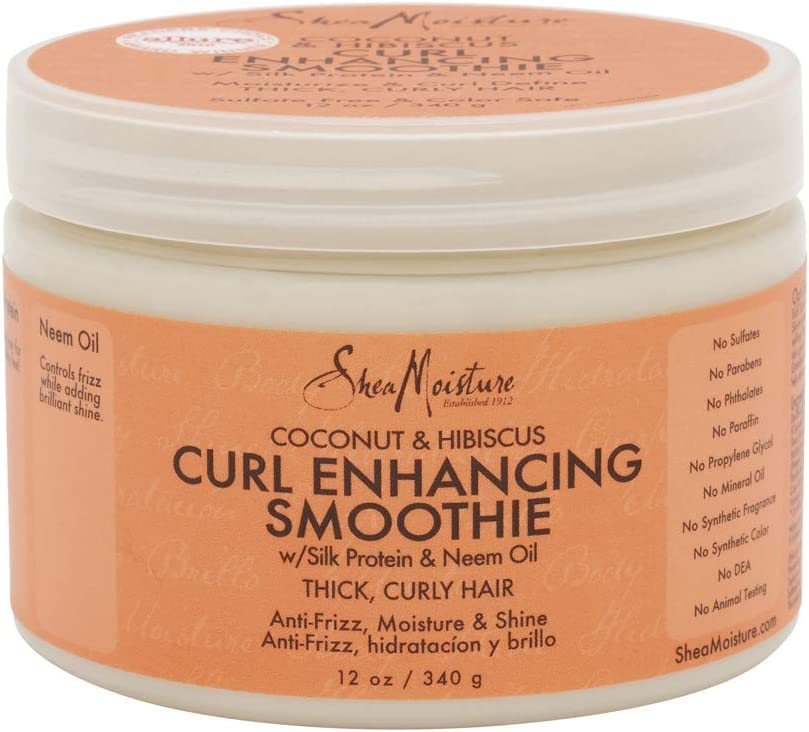 Shea Moisture Coconut Hibiscus Curl Enhancing Smoothie-12 oz: Health & Personal Care