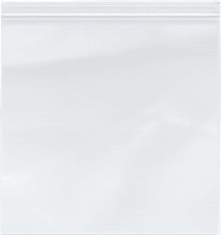 Plymor Heavy Duty Plastic Reclosable Zipper Bags, 4 Mil, 12