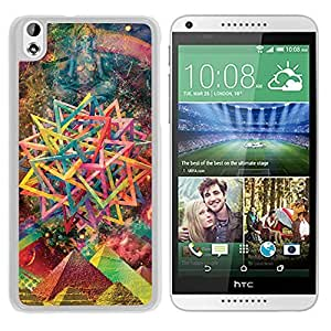 Abstract Psychedelic Art (2) Durable High Quality HTC Desire 816 Phone Case