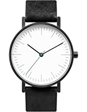 BIJOUONE B001 Minimalist Watches | 36MM Analog Swiss Quartz Leather Wristband