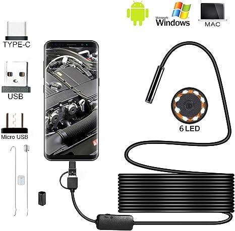 #N//A 2 In 1 USB F/ührte wasserdichte Endoskopkamera 2m